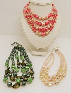 Vintage Lot Destash Japan Multi Strand Pearl Beaded Necklaces 1950s by In2vintagejewelry2 on Etsy