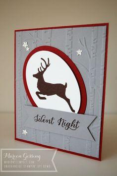 Stampin' Up, Weihnachtskarte, Wahre Weihnachtsfreude, Hirsch, Zwischen den Zweigen