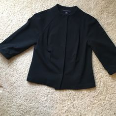 Banana Republic size 4 jacket Banana Republic size 4 (rayon, nylon, spandex) black jacket. Excellent used condition Banana Republic Jackets & Coats Blazers