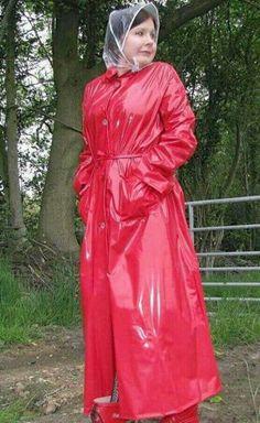 Full length mack   rain bonnet,