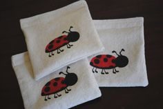 Reusable Sandwich or Snack Bags Ladybug - etsy