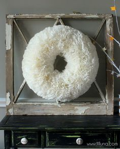 Easy but beautiful Coffee Filter Wreath Tutorial { lilluna.com } Takes time, but requires little supplies & turns out so cute!!