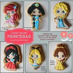 Curso Online Princesas : Galletas decoradas ~ Mis dulces tentaciones azucaradas