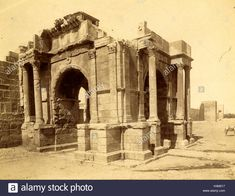Download this stock image: Tebessa, Arc De Triomphe Quadrifrons Caracalla Third Century, Algiers, the Neurdein Photographs of Algeria - H4M017 from Alamy's library of millions of high resolution stock photos, illustrations and vectors.