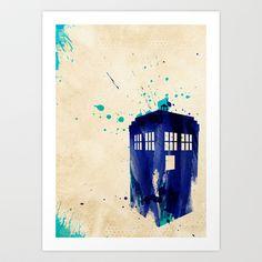 Doctor Who TARDIS Rustic Art Print by Colin Capurso