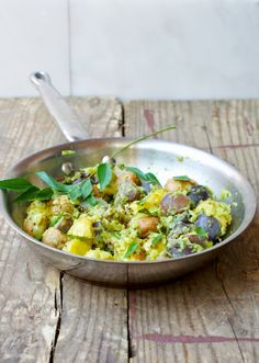 Smashed Indian Spiced Baby Potato Medley Recipe - Food Wanderings