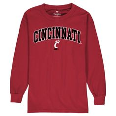 Cincinnati Bearcats Fanatics Branded Youth Campus Long Sleeve T-Shirt - Red
