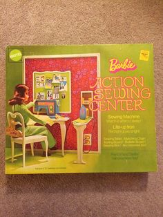Barbie Action Sewing Center 4026 with Original Box | eBay