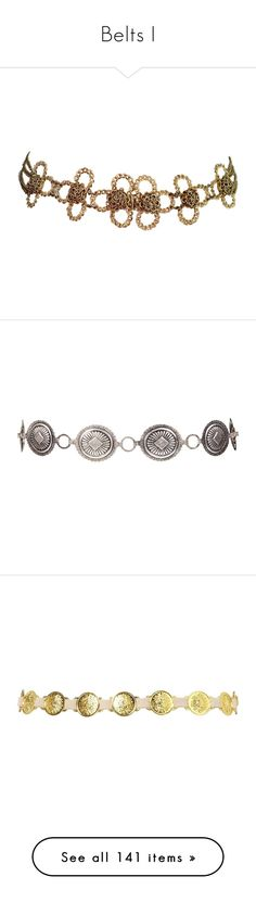 """Belts I"" by savagedamsel ❤ liked on Polyvore featuring accessories, belts, jewelry, jewels, jewel belt, vintage belt, hook belt, jeweled belt, bracelets and women"