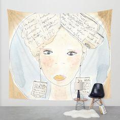Wall tapestries, watercolor, print