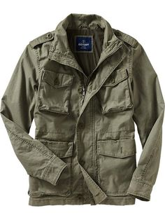 Mens Military Jacket, Fennel Seed, $60