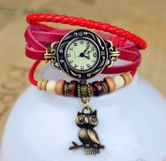 Vintage Watch Leather Strap bronze ladies quartz Watches Owl Pendant item hours wooden Bead Bracelet watch Casual watches https://uk.pinterest.com/925jewelry1/men-watches/