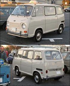 Subaru Sambar this thing is pretty neat Kei Car, Subaru Cars, Miniature Cars, Mini Bus, Old Pickup, Rusty Cars, Mini Trucks, Busse, Custom Vans