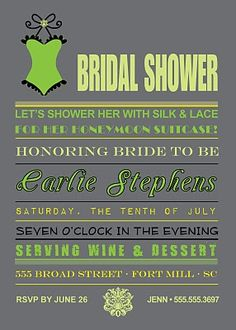 Bridal Lingerie Shower