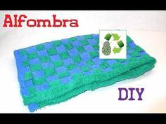 Diy alfobra. Reciclaje de toallas para hacer una alfombra, muy fácil y con una técnica ya conocida. -------------------- ►Suscríbete a Thebrisalatina: http:/...