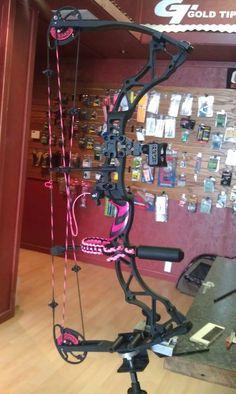 My bow! I love archery hunting!   Bowtech Heartbreaker!