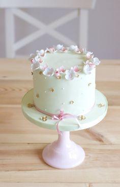 - Kuchen und Co - Gateau Anniversaire Birthday Cakes Girls Kids, Pretty Birthday Cakes, Pretty Cakes, Cute Cakes, Beautiful Cakes, Flower Birthday, 80th Birthday, Fondant Cakes, Cupcake Cakes