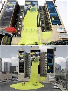 Un messaggio pubblicitario nella città di Columbus (Ohio)