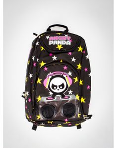 Angry Panda Stars Audio Backpack For my sister maybeeee