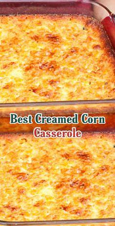Best Creamed Corn Casserole casserole squash and zucchini recipes; Baked Corn Casserole, Cream Corn Casserole, Vegetable Casserole, Casserole Dishes, Best Corn Casserole Recipe, Corn Cassarole, Casserole Recipes, Cornbread Casserole, Mexican Corn Casserole