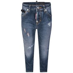 Dsquared² Blue Distressed Denim Cool Girl Jeans