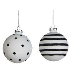 Zwart en wit horen bij het moderne kerst thema dat dit jaar een echte trend is!