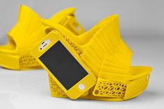 3D Printed Shoes Have A Built-In iPhone Case