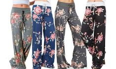 Women's Floral Lounge Trousers | Groupon