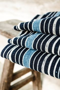 Image of African Indigo Dyed Strip Weave Textile Cloth x . Baby Boy Blankets, Warm Blankets, Weaving Textiles, Fabric Weaving, Fabric Art, Deco Marine, Fabric Photography, African Clothing For Men, Antique Show
