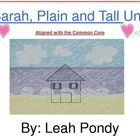 This is a collection of several activities that can be used while reading Sarah, Plain and Tall by Patricia MacLachlan. I have aligned them to the ...