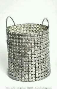 Reciclagem com tampinhas - net