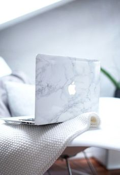phone cover mac cosmetics apple marble mac book cover laptop cute pattern grey…