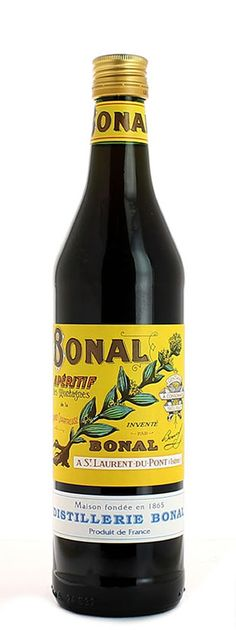 "Bonal Gentiane Quina, a French aperitif wine that has been in production since 1865. This aperitif wine is know in France as ""ouvre l'appétit"" or the key to the appetite. http://postprohibition.com/liquor-cabinet/bonal-gentiane-quina/"