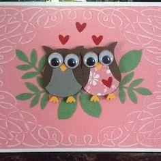 SU owl punch anniversary card