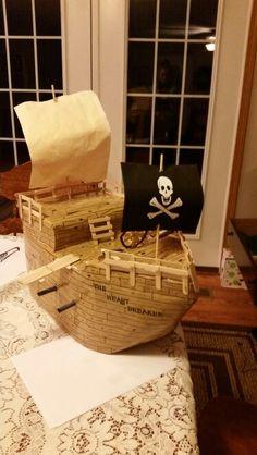 Valentines box pirate ship