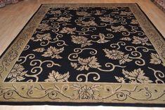 ON SALE 8x10 ft.  Top quality Tibetan contemporary Handmade rug beautiful black