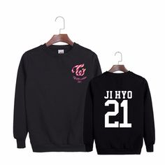 TWICE Coaster Album Ji Hyo 21 97 Cool Black Hip Hop Fashion Sweatshirt #TWICE #Coaster #Album #JiHyo #21 #Cool #Black #HipHop #Fashion #Sweatshirt #KPOP #KIDOLSTUFF