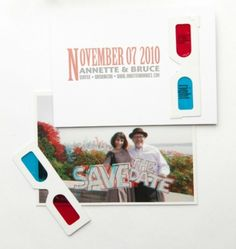 3D Save the dates, so awesome! Designed by Paper Moxie