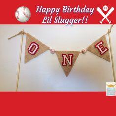 Baseball Banner Cake Banner Baseball Baby Shower by QueensBanners