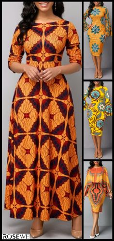 Long Sleeve Boat Neck Tribal Print Maxi Dress - Women's style: Patterns of sustainability Best African Dresses, Latest African Fashion Dresses, African Print Fashion, Women's Fashion Dresses, Tribal Mode, African Fashion Traditional, Boat Neck, Free Shipping, Long Sleeve
