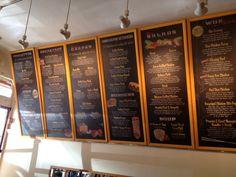 Restaurant+Wall+Menu+Sign digital printed menu boards for sq Menu Restaurant, Chalkboard Restaurant, Starting A Restaurant, Restaurant Concept, Restaurant Design, Price Board, Company Signage, Menu Boards, Menu Design