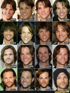 Jared Padalecki, the 2015 pic should show his hair though
