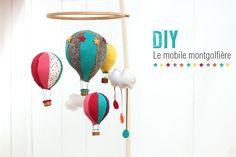hot air balloon, montgolfière, mobile, kidsroom, diy  http://www.cherie-sheriff.com/blog/?p=3467