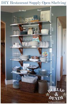 Restaurant Kitchen Shelving styling open shelving in the kitchen - | metal shelves, open
