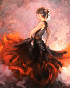 """Flamenco Heat"", our favorite Mark Spain painting."
