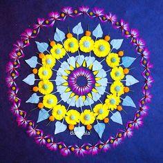WEBSTA @ kathydanmala - Fairy duster, desert marigold, brittle bush, mesquite #danmala #desertwildflowers #desert #wildflowers #flowermandala #mandala