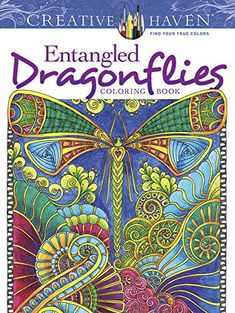 Creative Haven Entangled Dragonflies Coloring Book (Adult Coloring) - http://www.darrenblogs.com/2016/08/creative-haven-entangled-dragonflies-coloring-book-adult-coloring/