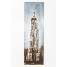 Industrial skyscape in an impressionistic guise: this audaciously unusual iron Empire State building artwork renders iconic imagery in inimitable style. Buildings Artwork, Industrial Chic, Steel Frame, Rustic Wood, Empire State Building, Impressionist, Decorative Accessories, Iron, Wall Art