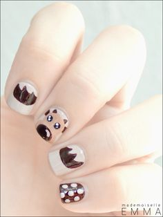 moose silhouette nail decals
