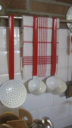 Red and White Kitchen Accessories